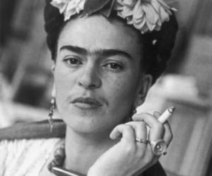 frida kahlo, Frida, and black and white image