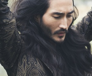 handsome, long hair, and male model image