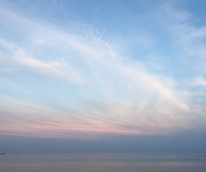 calm, sky, and sunset image