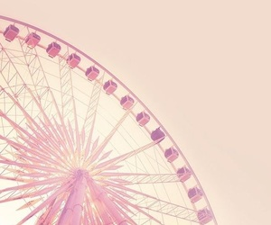 ferris wheel, pastel, and rides image