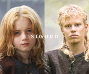 vikings, vikings serie, and sigurd snake in the eye image