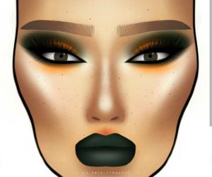 artsy, facechart, and makeup art image
