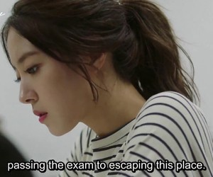 college, drama, and exam image