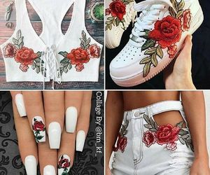 rose, shoes, and girl image
