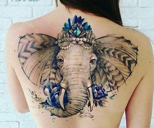 ink, backtattoo, and tattoo image