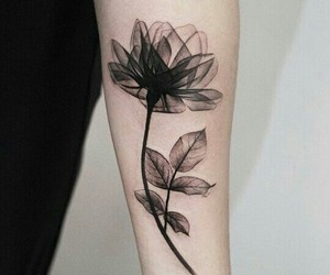 tattoo, flower, and art image