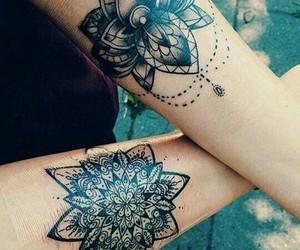 tattoo, ink, and mandala image