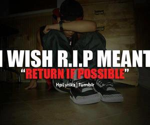 quote, rip, and r.i.p image