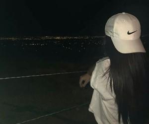 girl, nike, and night image