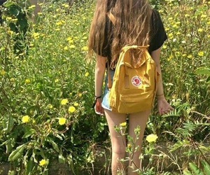 yellow, flowers, and girl image