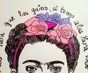 Frida, frida kahlo, and frases image