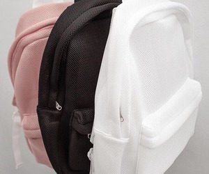 backpack, black, and pink image