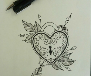 drawing and heart image