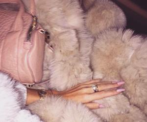 nails, pink, and fur image