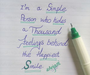 feelings, handwriting, and quote image