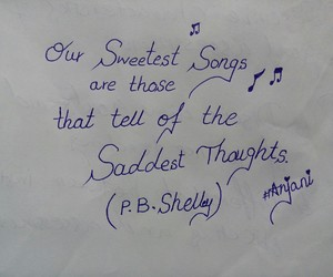 handwriting, songs, and thought image