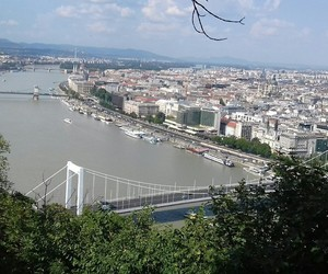 city, travel, and view image