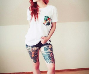 body, tattoo, and girl image