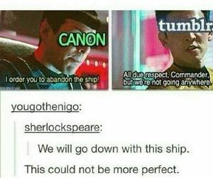 funny, ship, and tumblr image