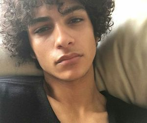 boy, curly hair, and grunge image