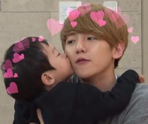 exo, baekhyun, and baby image