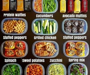 box, food, and fruit image