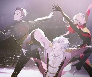 anime, yurio, and yuri on ice image