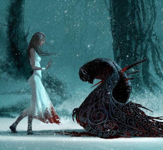 art, blood, and fantasy image