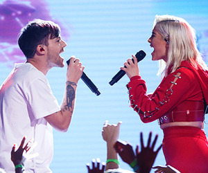 bebe rexha and louis tomilson image