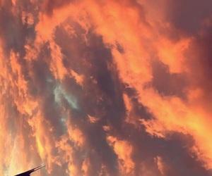 air, grunge, and orange image