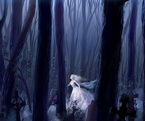 fantasy, forest, and girl image