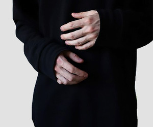hands, black, and aesthetic image