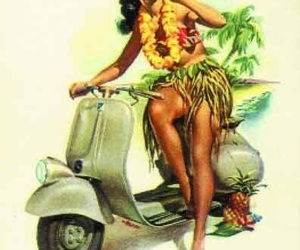 hawaii and retro image