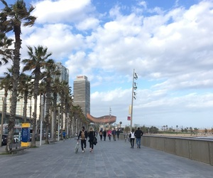 barcellona, clouds, and spagna image