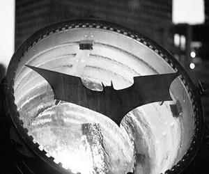 batman, black and white, and light image