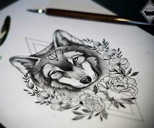 animal, art, and black&white image