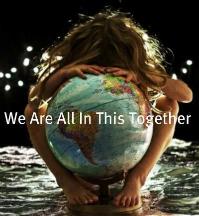 world, together, and earth image