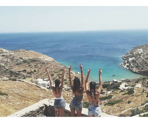 blue, Greece, and holidays image