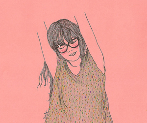 art, drawing, and glasses image