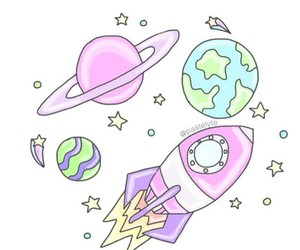 space, overlay, and planets image