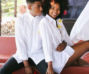 black, black man, and black woman image
