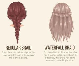 braid, hair, and guide image