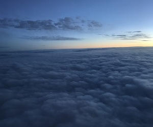 airplane, clouds, and morning image