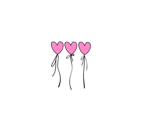 drawing, heart, and pink image