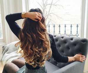 beautiful, girl, and ombre image