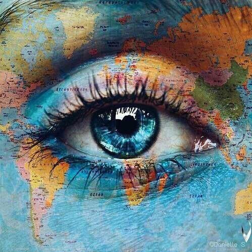 world, eye, and blue image