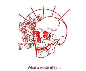 quotes, time, and waste image