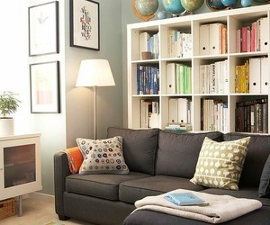 bookcases, home decor, and small spaces image