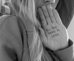 love, quote, and blonde image