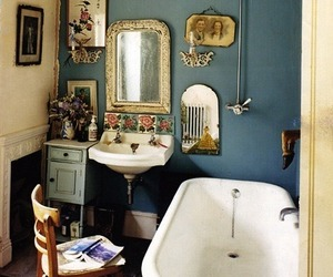 bathroom and vintage image